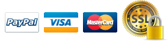 We accept PayPal, Visa, Mastercard, Discover, Amex